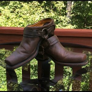 Frye Harness Mule Boots